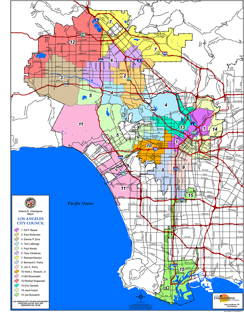 Service Area Map Partnerships City of Los Angeles Department of