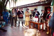 Re-enactment of the signing of Treaty of Cahuenga 1847