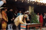 Signing of the Campo de Cahuenga Treaty January 17, 1847. Freemont signing with General Andres Pico