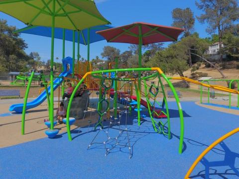 Photo of a playground at Bellevue Recreation Center