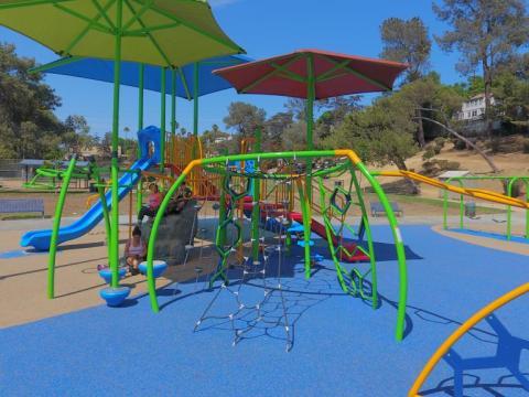 Photo of a playground at Bellevue Recreation Center