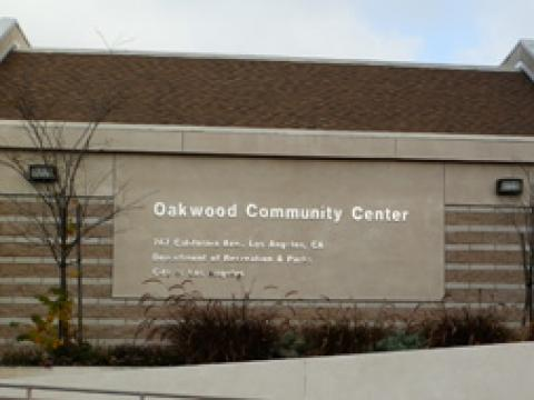 The recreation center sign from outside