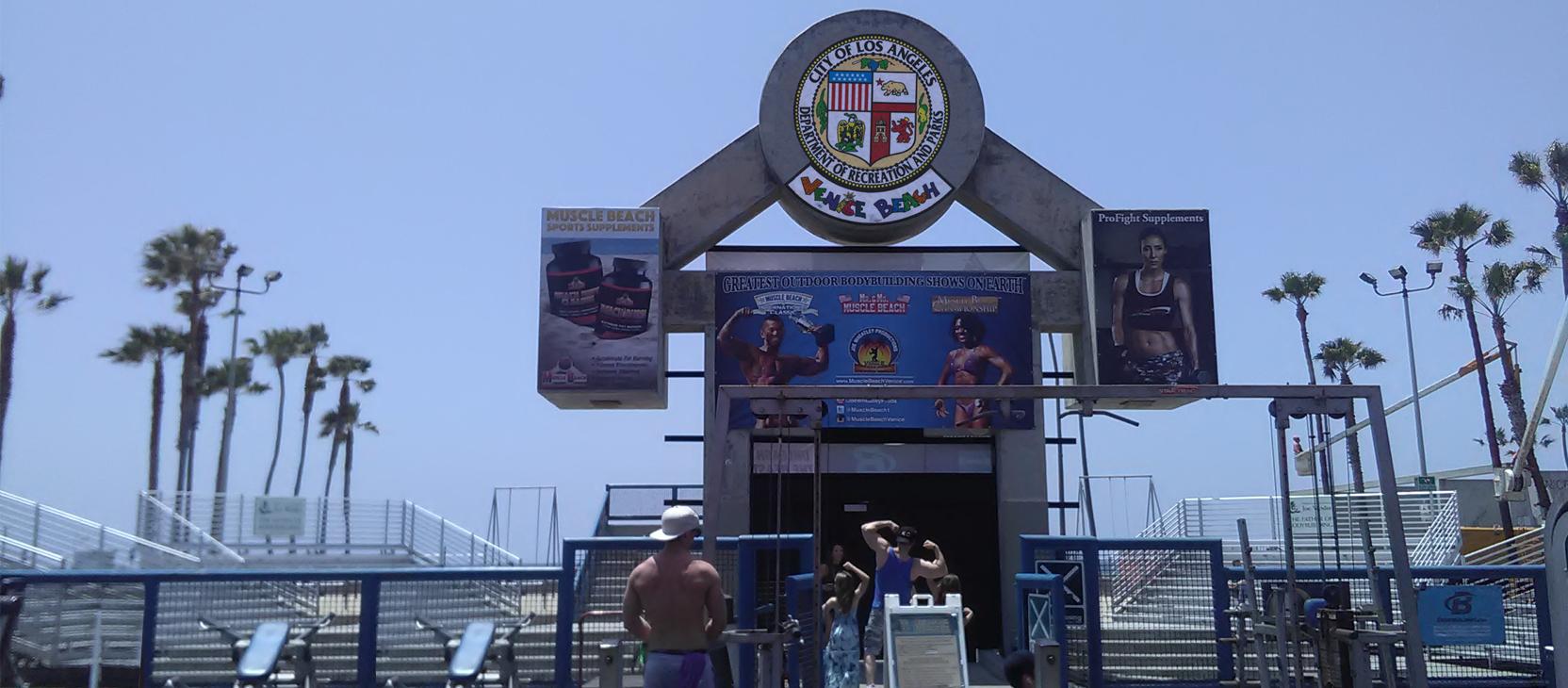 Muscle Beach Venice Outdoor Gym